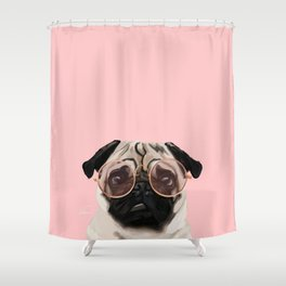Intellectual Pug Shower Curtain