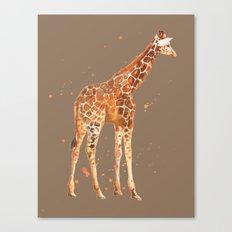 Giraffe in Mocha Canvas Print