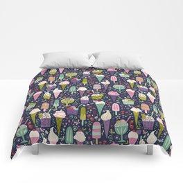 Summer Delights (dark) Comforters