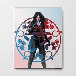 Yennefer of Vengerberg and her obsidian star - The Witcher Metal Print