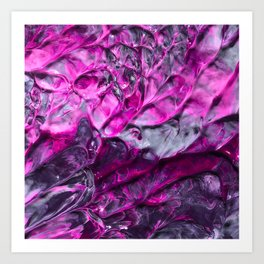 Purple Abstraction Art Print