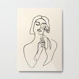Minimalist Abstract Woman I Metal Print