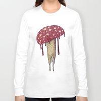 mushroom Long Sleeve T-shirts featuring Mushroom by Lime