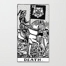 Modern Tarot Design - 13 Death Canvas Print