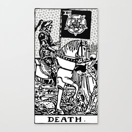 Modern Tarot Design - 13 Death Canvas Print