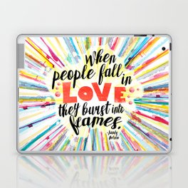 Ill Give You The Sun quote design Laptop & iPad Skin