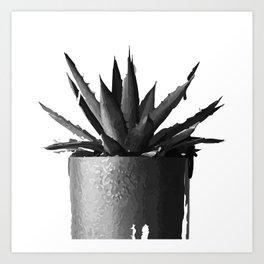 ''Nowhere Collection'' - Cacti Plant Print Art Print