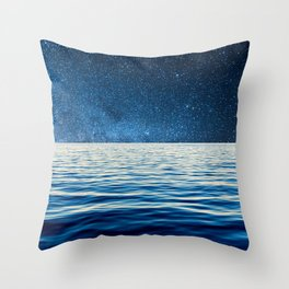 Sailing into space Throw Pillow