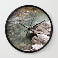 allyson johnson Wall Clocks featuring Johnson Canyon rocks by RMK Creative