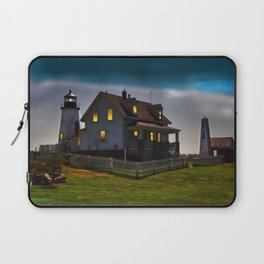 The Lights are on at Pemaquid Laptop Sleeve