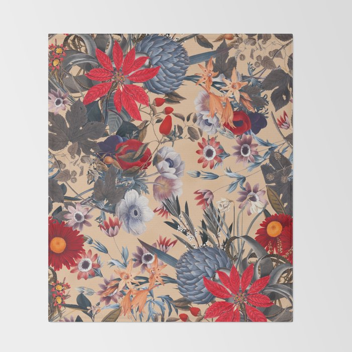 Magical Garden XIII Throw Blanket