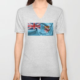 Fiji Flag Unisex V-Neck