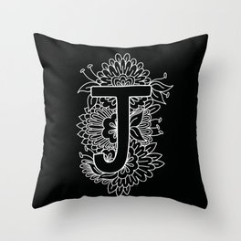 J Throw Pillow