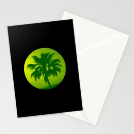Palm Tree, Green to Yellow Stationery Cards