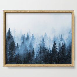 Misty Winter Forest Serving Tray