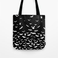 bats Tote Bags featuring Bats by PunkRockPlanet