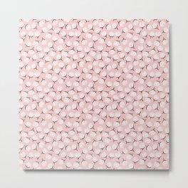 Peony Flower Pink Metal Print