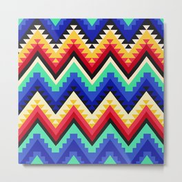 American Native Pattern No. 98 Metal Print