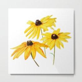 yellow flower sun choke flower Metal Print