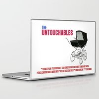 movie poster Laptop & iPad Skins featuring The Untouchables Movie Poster by FunnyFaceArt
