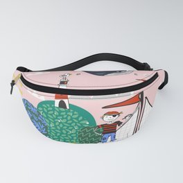 Pirates Ahoy Pink Fanny Pack
