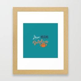Love Miami Framed Art Print