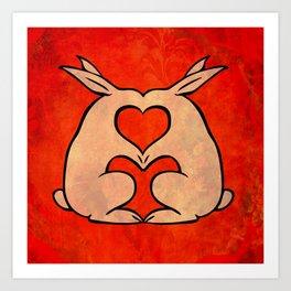 My Bunny Valentine Art Print