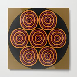 Aboriginal Cycle Style Painting Metal Print