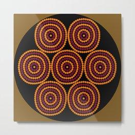 Aboriginal Cycle Style Painting Metal Print
