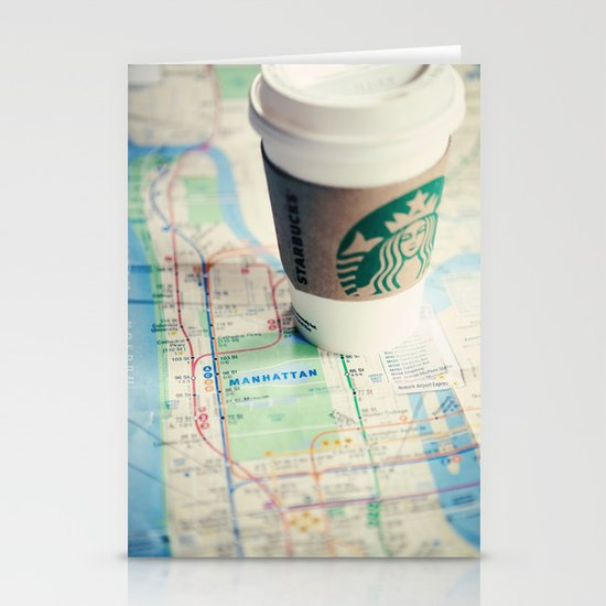 Manhattan and Starbucks Stationery Cards