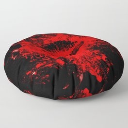 Gothic Bloody Kiss Floor Pillow