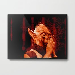 DalaiYOda - RED Metal Print