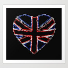 Union Flag Stitched-Up ~ Love Art Print