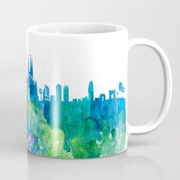 Skyline BARCELONA Colorful Silhouette Coffee Mug