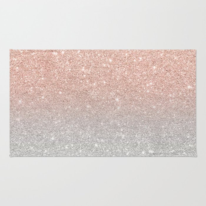 Silver Glitter Rug Uniquely Modern Rugs