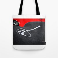 ducati Tote Bags featuring Ducati 1198 SP by Elias Silva Photography