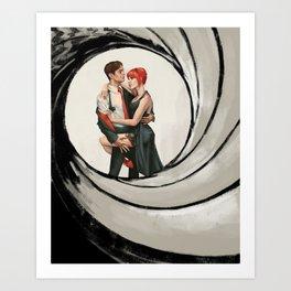 Mr & Mrs BuckyNat Art Print