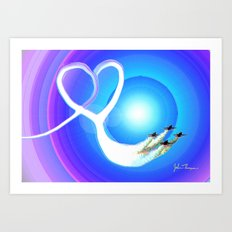 Love from above Art Print