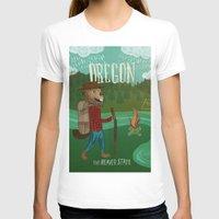 oregon T-shirts featuring Oregon by Santiago Uceda