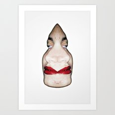 D_Face Art Print