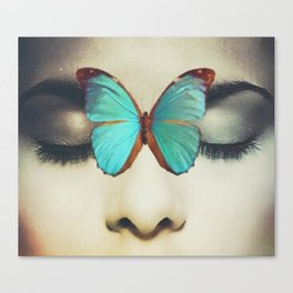 Eyes Closed Butterfly Canvas Print