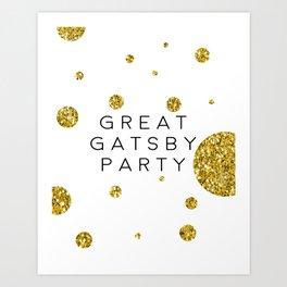 PRINTABLE Art,Great Gatsby Party,Party Like Gatsby,Wedding Anniversary,Happy Birthday,Celebrate Life Art Print