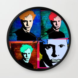 DYLAN THOMAS (FUNKY-COLOURED 4-UP COLLAGE) Wall Clock