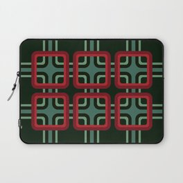 Geometric Pattern #69 (red & turquoise 1970s) Laptop Sleeve