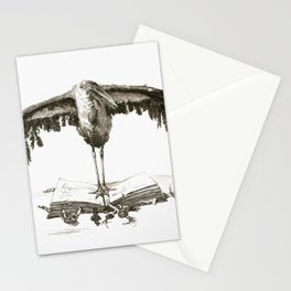 Ernst Moritz GEYGER (Rixdorf 1861-1941 Marignolle) - Marabu auf Folianten stehend. Stationery Cards