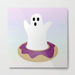 Frosty Boo Metal Print