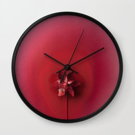 Red explosion Wall Clock