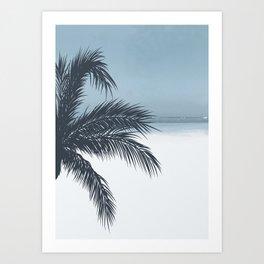 Palm and Ocean Art Print