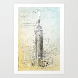 Empire State Building, New York USA Art Print