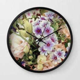 Vibrant Bouquet Wall Clock